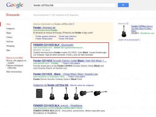 Búsqueda en Google. Fragmentos enriquecidos